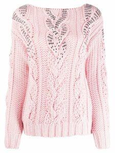 Ermanno Scervino ombre knit jumper - PINK