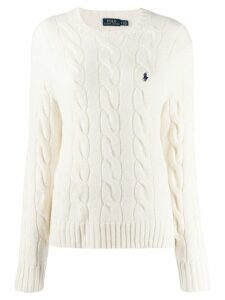 Polo Ralph Lauren cable-knit sweatshirt - Neutrals