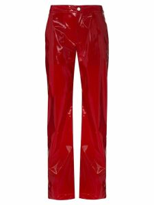 Kirin vinyl-effect trousers - Red