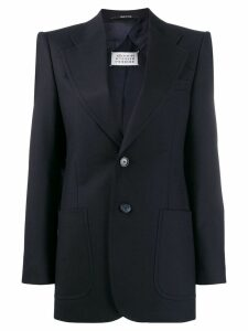 Maison Margiela structured shoulders blazer - Blue