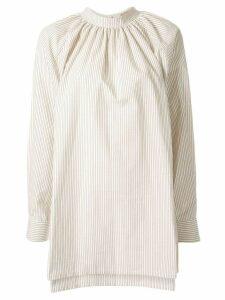 Nehera gathered backwards shirt - NEUTRALS