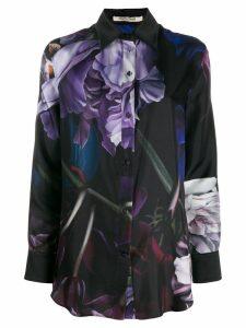 Roberto Cavalli floral graphic print shirt - Black
