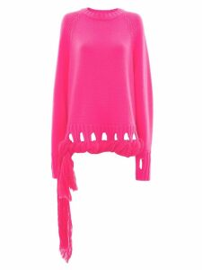 JW Anderson Georgette drapes crew neck jumper - PINK