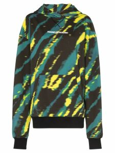 House of Holland tie-dye logo-print hoodie - Green