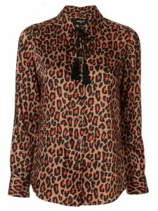 Paule Ka leopard print blouse - Brown