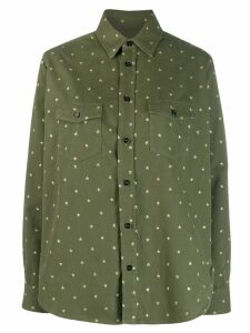 Saint Laurent star flap pockets shirt - Green