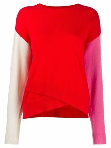 Chinti & Parker colour-block asymmetric jumper - Red