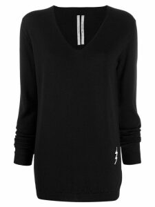 Rick Owens lightning bolt knitted sweater - Black