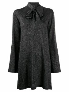 P.A.R.O.S.H. glitter scarf-detailed jumper - Black