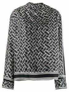 Bottega Veneta geometric-print blouse - Black