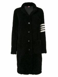Thom Browne reversible 4-Bar sack overcoat - Black