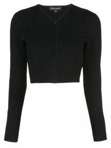 Narciso Rodriguez zipped-up cardigan - Black