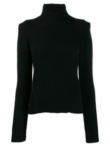 L'Autre Chose slim-fit mock neck jumper - Black