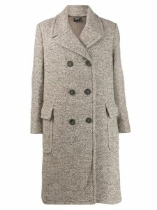 Aspesi double-breasted midi coat - NEUTRALS