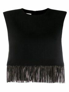 Philosophy Di Lorenzo Serafini fringe detail sleeveless top - Black