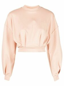 Fila crew neck cropped sweatshirt - Pink