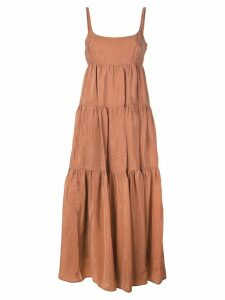 Rachel Comey tiered midi dress - Orange