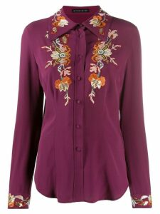 Etro embroidered floral shirt - PURPLE