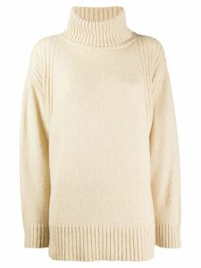 Roberto Collina roll neck jumper - NEUTRALS