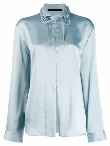 Haider Ackermann woven collar shirt - Blue