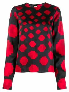 Marni pixel print blouse - Blue