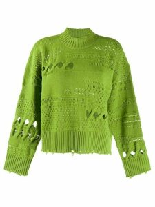 Versace knitted cut-out jumper - Green