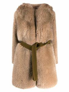 Blancha oversized coat - NEUTRALS