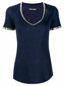 Zadig & Voltaire contrast-trim T-shirt - Blue