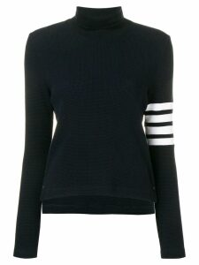 Thom Browne 4-Bar compact waffle turtleneck jumper - Blue