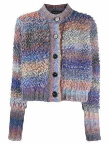 Roberto Collina multi textured knit cardigan - Grey