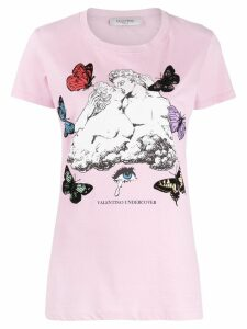 Valentino Lovers printed T-shirt - PINK