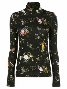 R13 turtleneck floral print sweatshirt - Black