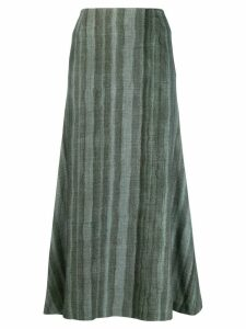 Undercover striped long skirt - Green