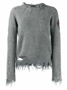 Etro distressed jumper - Grey