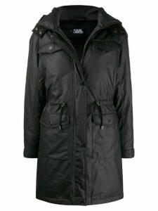 Karl Lagerfeld Technical hooded coat - Black