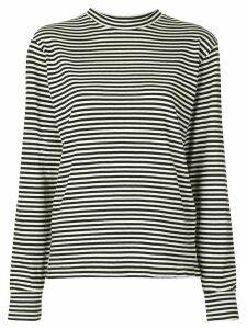 Re/Done striped long sleeves sweatshirt - Black