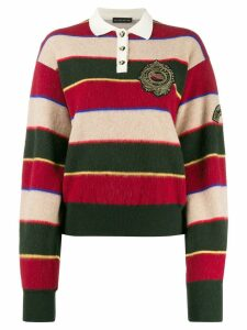 Etro striped knitted polo shirt - Red