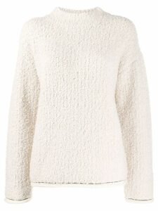 3.1 Phillip Lim Bouclé turtle neck sweater - White