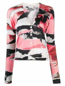 Alexander McQueen Deconstructed torn rose cardigan - Pink