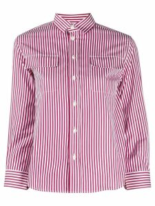 Maison Margiela three-quarter sleeves striped shirt - Red