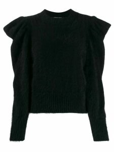 Antonino Valenti ruffle long-sleeve top - Black