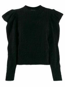 Antonino Valenti ruffle long-sleeve top - Black