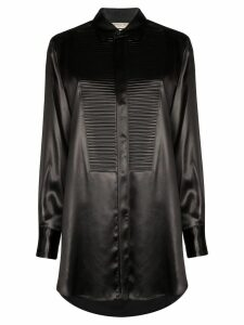 Bottega Veneta textured bib-panel shirt - Black