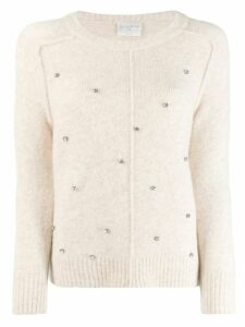 Forte Forte embellished sweater - NEUTRALS