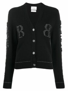 Barrie two-tone monogram cardigan - Black