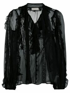 Zimmermann ruffled long sleeves shirt - Black
