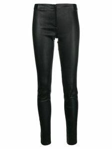 Alice+Olivia skinny leather trousers - Black