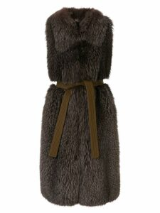 Blancha sleeveless shearling jacket - Brown
