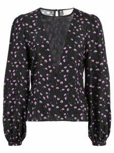 Fleur Du Mal carnation contour blouse - Black