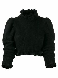 Wandering Ruffled knit jumper - Black